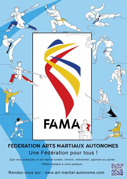 AFFICHE- FAMA ARTS MARTIAUX